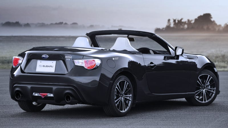 What The Diesel Hybrid Convertible Subaru BRZ Would Look Like If It Wasn't A Joke