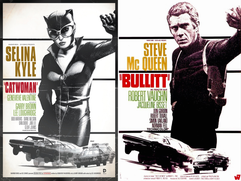 Illustration for article titled Your Favorite DC Superheroes, Drawn Into Famous Movie Posters