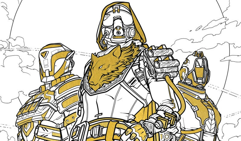 official destiny coloring book looks more relaxing than destiny
