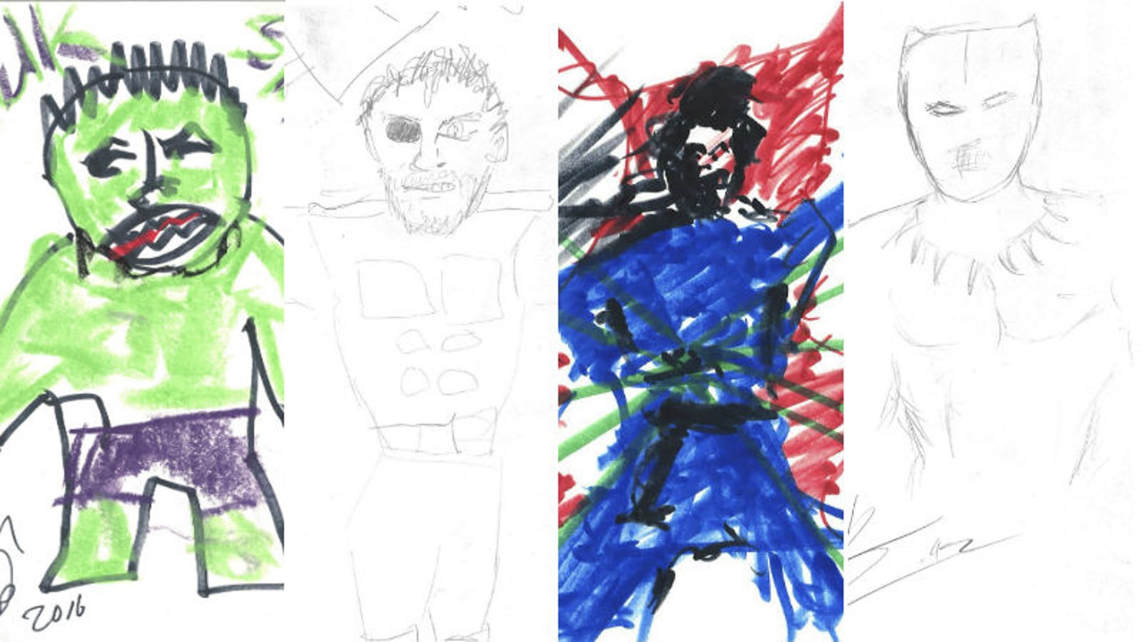 The Infinity War Cast Drew Their Own Characters for Charity, and They're Adorably Terrible