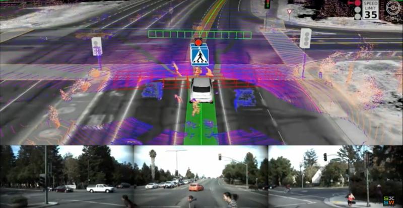 Illustration for article titled Un problema inesperado para el coche de Google: hace que los peatones actúen como idiotas