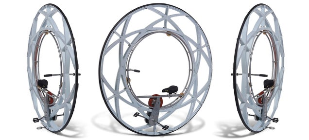 A Pedal-Powered Monowheel For When a Unicycle Is Somehow Too Cool