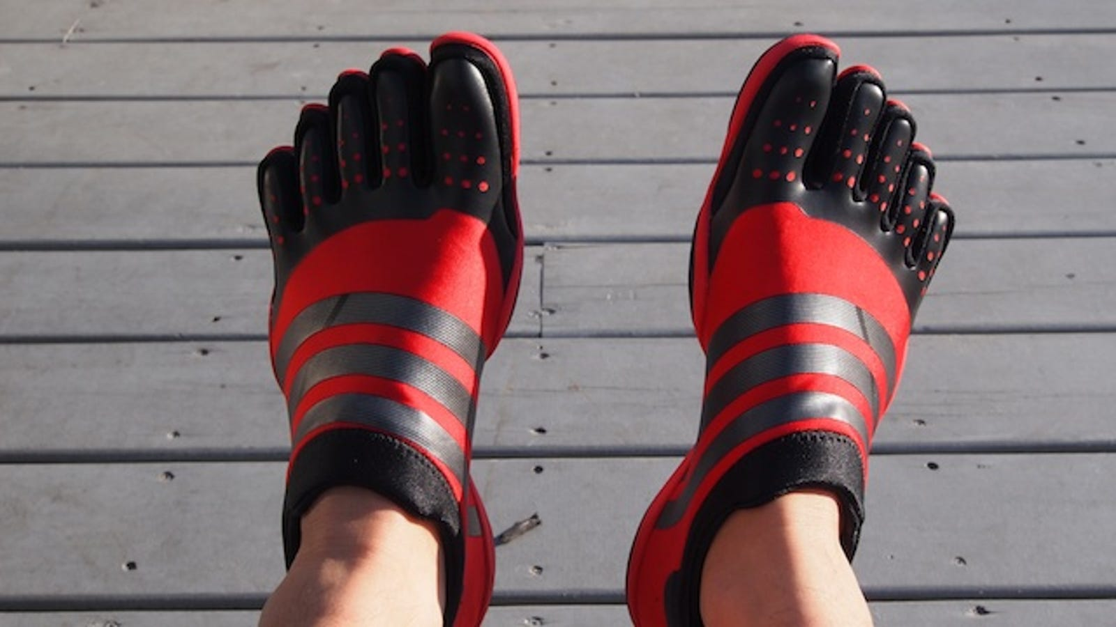 8ae21fdaa26321 Working Out Barefoot with the Adidas Adipure Trainers Is Really Weird (But  Good for You )