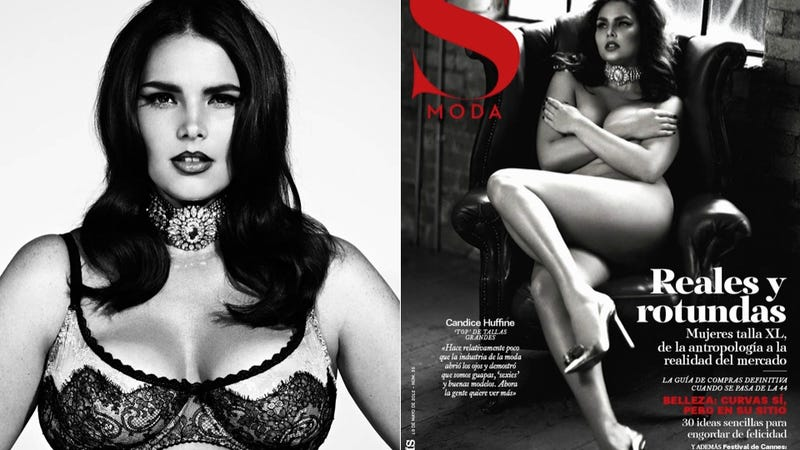 Illustration for article titled Plus-Size Model Candice Huffine Is Naked On Another Magazine Cover
