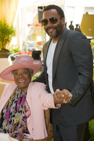 Poet Maya Angelou and director Lee Daniels attend Angelou's 82nd birthday party with friends and family at Angelou's home on May 20, 2010, in Winston-Salem, N.C.Steve Exum/Getty Images