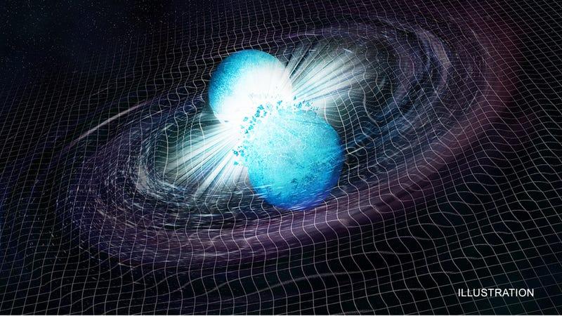 Artist's depiction of the neutron star merger