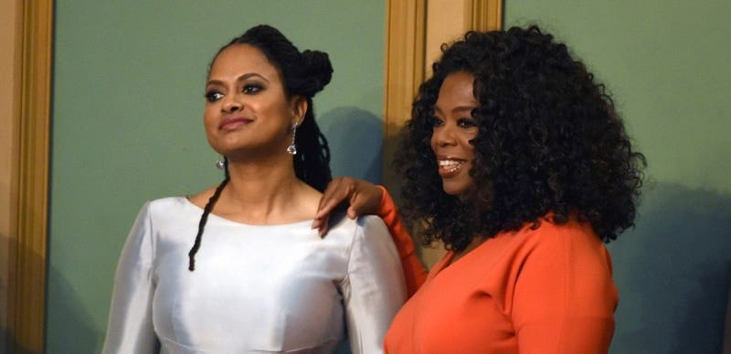 Ava DuVernay, left, and Oprah Winfrey attend the 46th NAACP Image Awards. Image: Chris Pizzello/Invision/AP