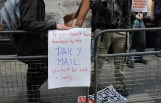Illustration for article titled Activists Picket The Daily Mail