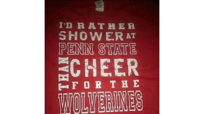 Illustration for article titled Ohio State Fans Kick Off Football Season With Horrible Shirt Mocking Penn State Victims