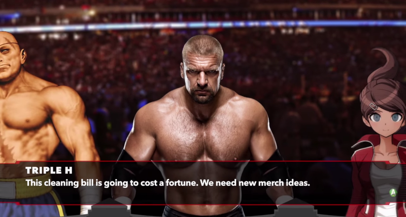 Illustration for article titled Fan-Made Danganronpa/WWE Murder Mystery Is Better Than You'd Imagine