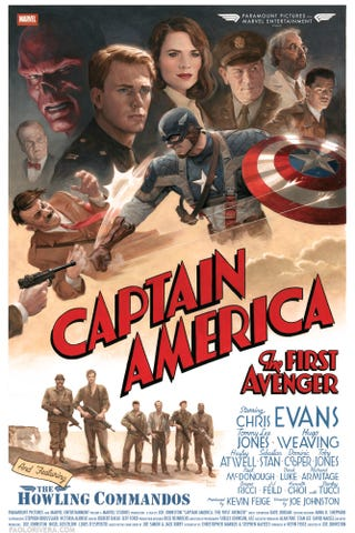 Illustration for article titled Captain America Retro Poster