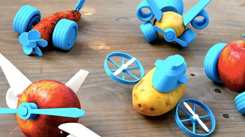 Illustration for article titled 3D-Printed Toy Parts Will Finally Make Kids Love Fruits and Vegetables