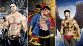 Illustration for article titled 10 Times When Comics And Movies Sexualized Male Superheroes