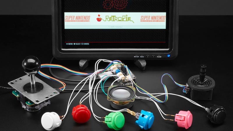 Illustration for article titled Adafruit's Arcade Bonnet Simplifies Making Your Own Raspberry Pi Arcade Machine
