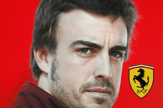 Illustration for article titled OFFICIAL: Fernando Alonso Signs Three-Year Contract With Scuderia Ferrari