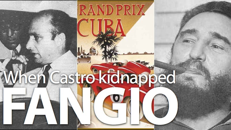 Illustration for article titled How Fidel Castro kidnapped the world's greatest racer