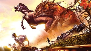 Illustration for article titled A sneak peek at Enormous, a giant monster graphic novel from Image Comics