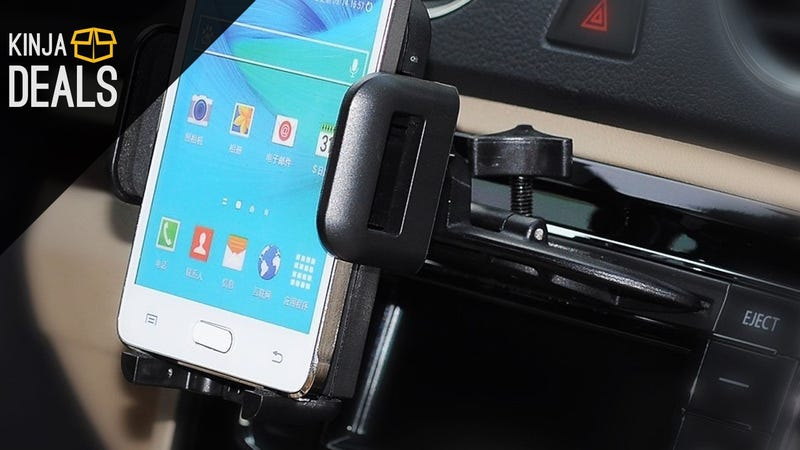 Illustration for article titled Put Your Car's CD Slot To Use With This $9 Smartphone Mount