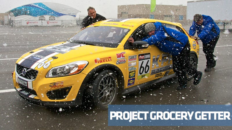 Illustration for article titled Project Grocery Getter hits the track: Miller Motorsports Park