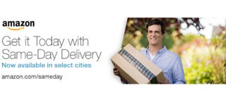Illustration for article titled NYC, Philly, DC and More Can Get Same-Day Amazon Delivery Now