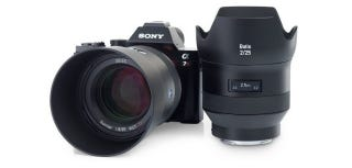Illustration for article titled New Zeiss Lenses for Sony A7 Cameras Have OLED Displays for Some Reason