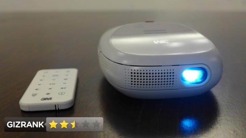 Illustration for article titled 3M Streaming Projector with Roku Review: Can't Wait Until They Get This Right