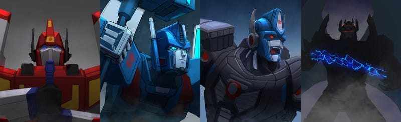 Illustration for article titled One Of These Four Transformers Will Be The Next Leader Of Cybertron