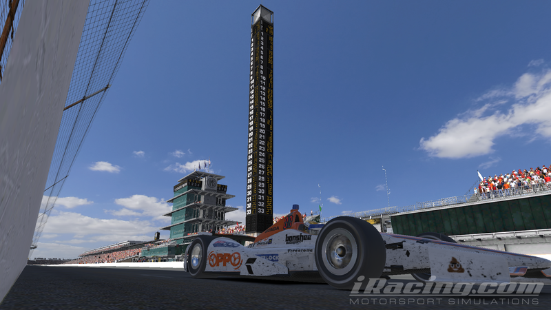 Illustration for article titled Team Oppo Competes in the iRacing Indianapolis 500