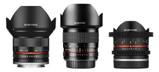 Illustration for article titled Samyang Introduces New Lenses For Your Wide Angle Pleasure