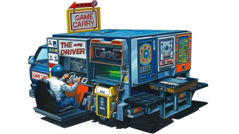 Illustration for article titled This Model Truck Is a Japanese Arcade...On Wheels!