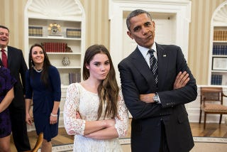 Illustration for article titled We Are Impressed With These Expressions By McKayla Maroney And Barack Obama