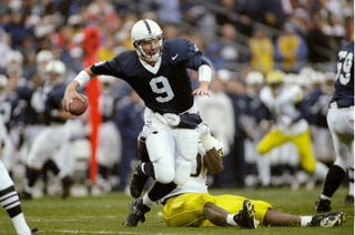 Illustration for article titled In Penn State's Last Official Win, Quarterback Mike McQueary Had The Game Of His Life