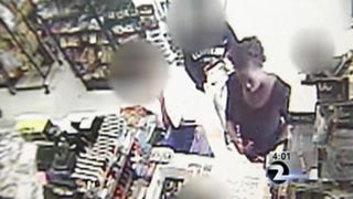 Surveillance footage moments before the robbery of the 8-year-old took place, showing the woman who police believe robbed the child.KTVU screenshot