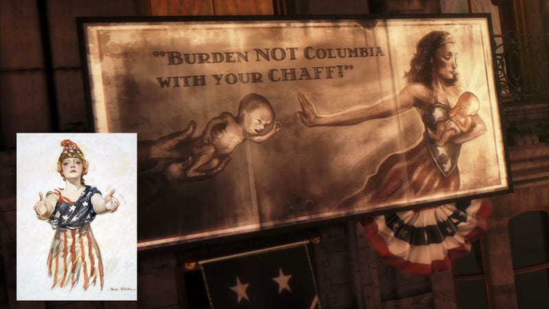 Illustration for article titled Even in BioShock Infinite's Alternate History, America Was a Woman. But Not a Nice One.