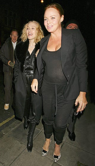 Illustration for article titled Madonna & Pregs Stella McCartney Hit The Town