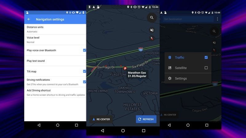 android google maps navigation feature has been one of androids best for a long time it would be nice however if you could see things like traffic