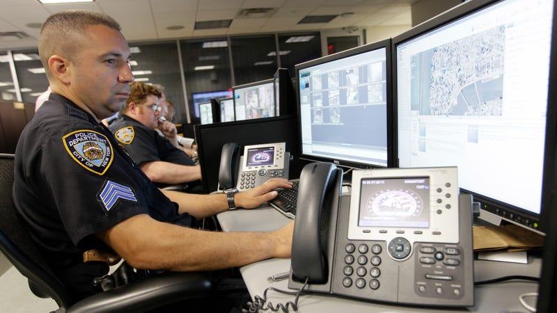 Officers at the NYPD's Lower Manhattan Security Coordination Center in 2011. Photo: AP