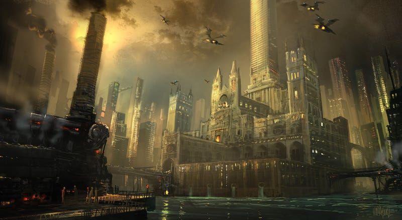 Illustration for article titled Dark City, Cool Art: Awesome Neo-Noir and Urban Fantasy Cityscapes