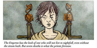 Illustration for article titled A Fascinating Webcomic Retelling Of Empress Octavia's Ritual Suicide