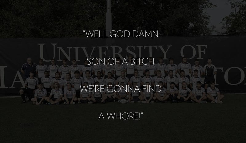 Entire College Rugby Team Suspended Over Recorded 'Fuck a Whore' Chant
