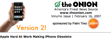 Illustration for article titled The Onion Reports on iPhone 2.0
