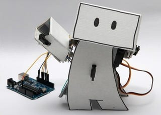 Illustration for article titled DIY Guardian Robot Gives You a High Five For Happy Tweets