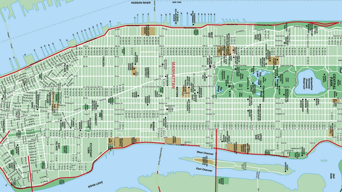 image relating to Printable Map of Lower Manhattan Streets named Keep track of Manhattans Limits Mature More than 250 Yrs