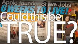 "Illustration for article titled Steve Jobs Has ""6 Weeks to Live,"" Says the National Enquirer"