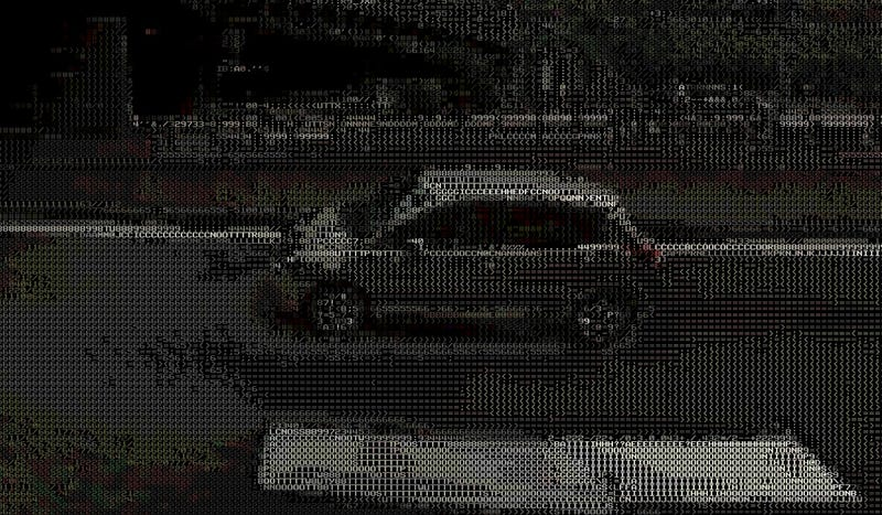 Illustration for article titled Google Street View Panoramas, Done Retro-Style in ASCII