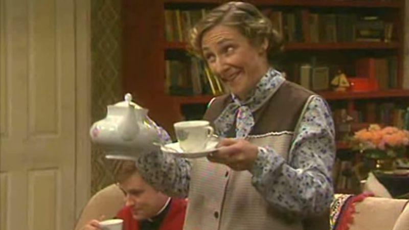 Ah, you'll have a cup! Ah, go on! Go on, go on, go on, go on, go on!