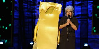 Paula Deen and Kevin Bacon perform at Comedy Central Night of Too Many Stars in 2012 (Dimitrios Kambouris/Getty Images)