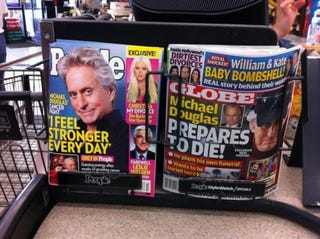 Illustration for article titled Michael Douglas & The Tale Of Two Tabloids