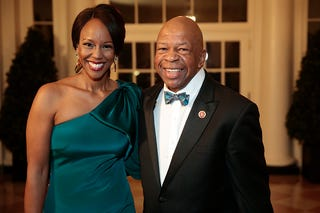 Maya Rockeymoore and her husband, U.S. Rep. Elijah Cummings, D-Md. (Andrew Harrer-Pool/Getty Images)