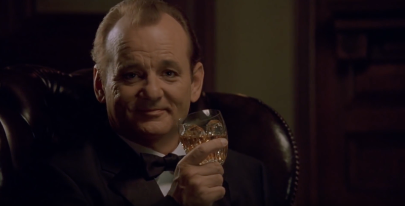 Bill Murray enjoying a real glass of Hibiki 17 in Lost in Translation.